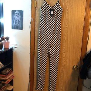 Black/White checkered jumpsuit